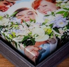 Black Wash Canvas Box Frame